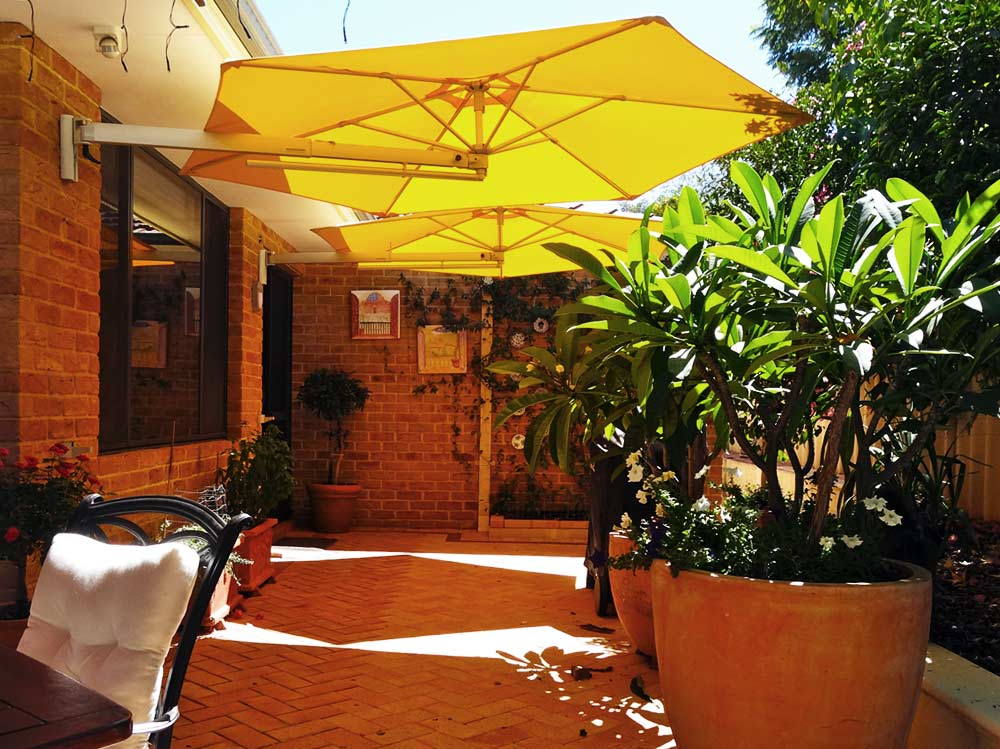 wall mounted sun umbrella