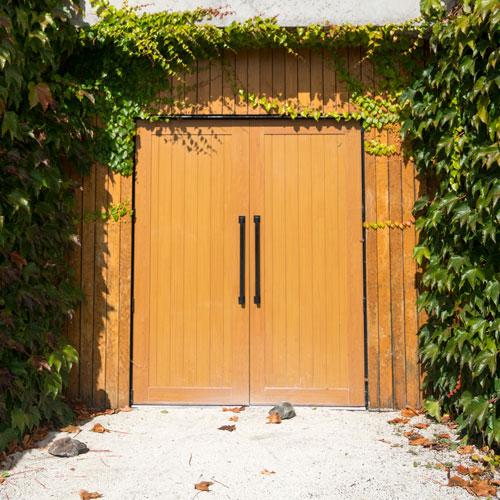Winery doors