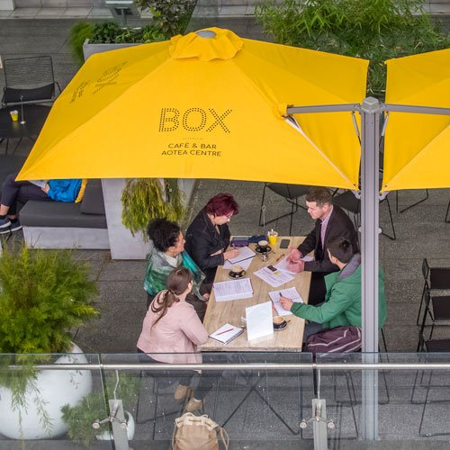 Box Cafe Umbrella